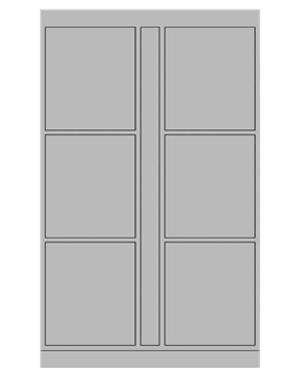 Smart locker 6 door