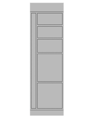 Smart locker 5 door expansion