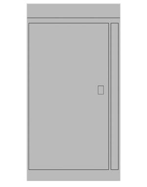 Smart locker 1 door expansion