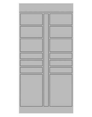 Smart locker 16 door expansion