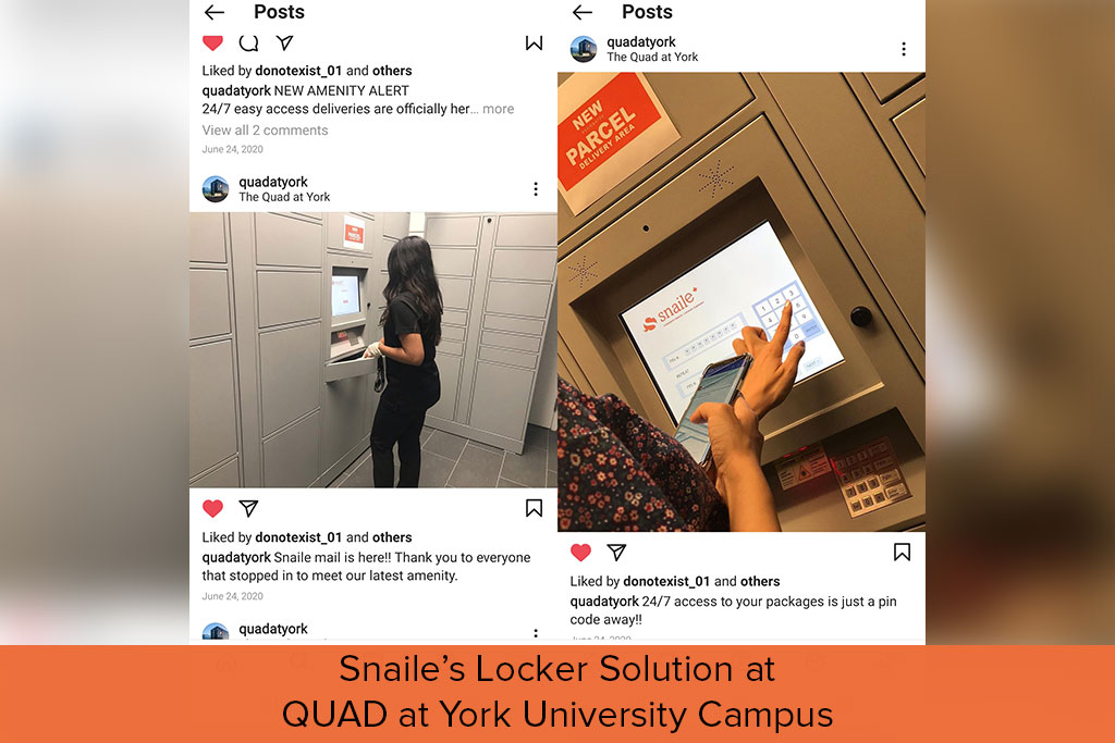 Snaile's locker solution at QUAD at York University Campus